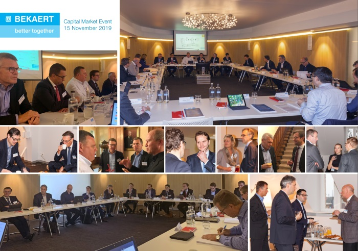 Photo collage depicting the general atmosphere during the Capital Markets Day