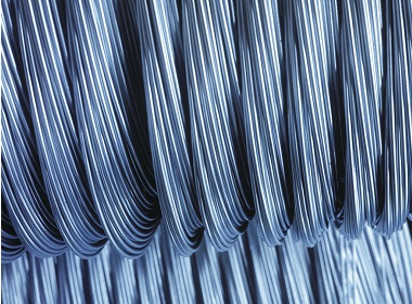 Bezinal coated steel wire