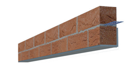Masonry reinforcement in facade supports