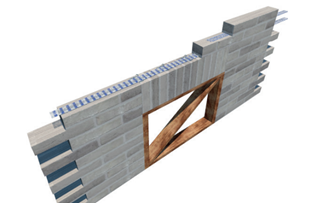 Masonry reinforcement - soldier course